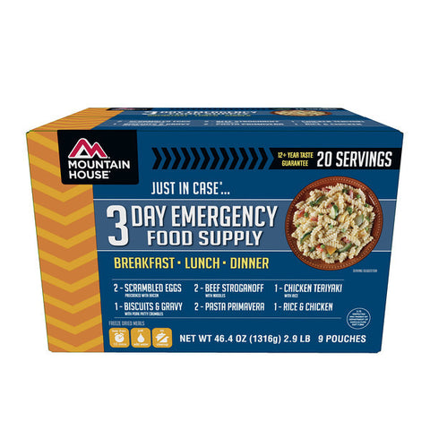 Mountain House Just In Case…® 3 Day Emergency Food Supply