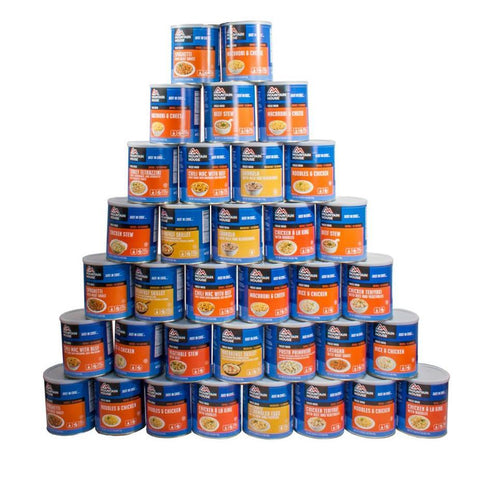 6-month supply Mountain House® Freeze-Dried - 1 adult - 3 meals/day