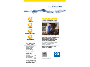 Katadyn® MicroPur MP1 Purification Tablets - 20 Tablets