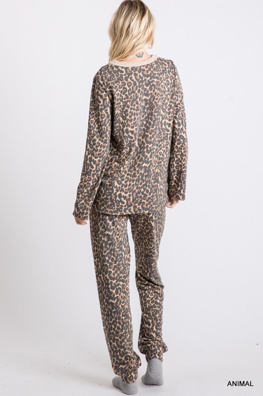 Cheetah Print Loungewear Separates