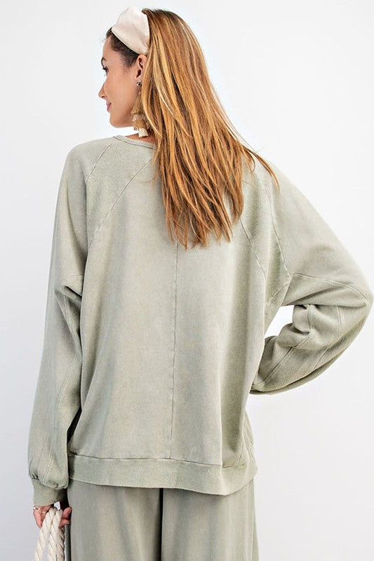 "New Color!  ""Dee"" Vintage Washed Pullover, 2 colors"