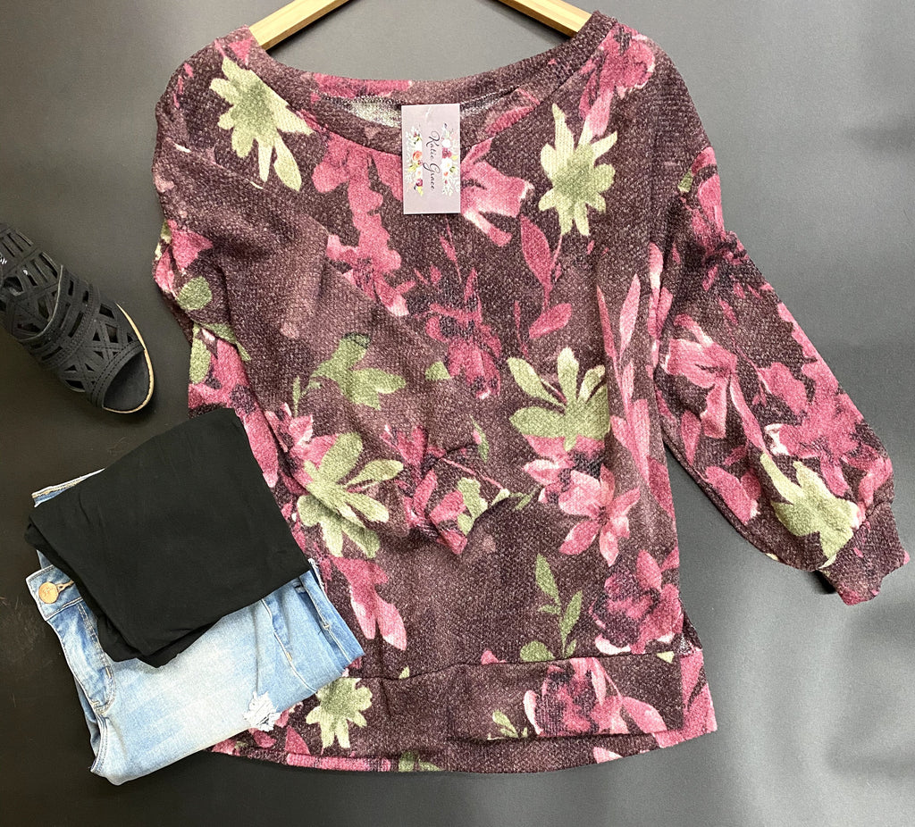 """Candi"" Floral Top"