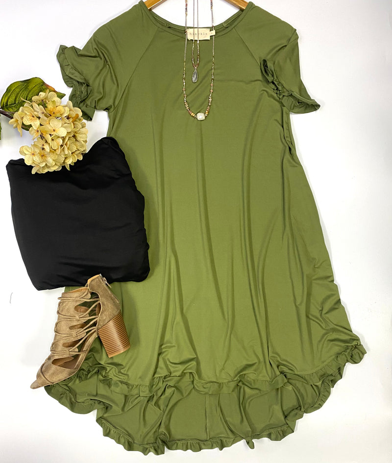 "Restocked! ""Laren"" Ruffled Dress"