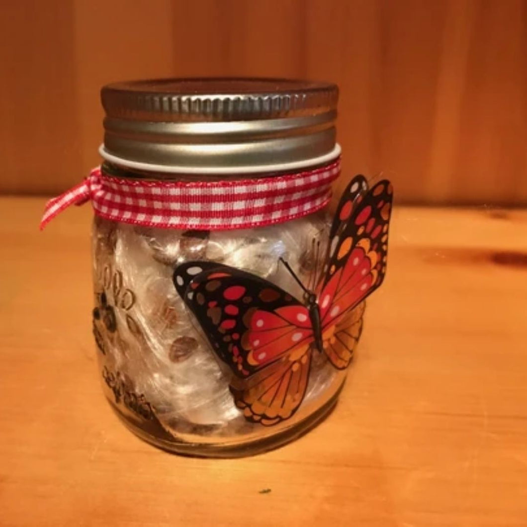 Milkweed Seeds in Jar