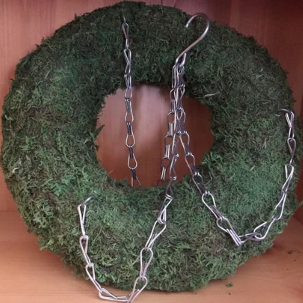 Plant Ready Succulent Moss Wreath