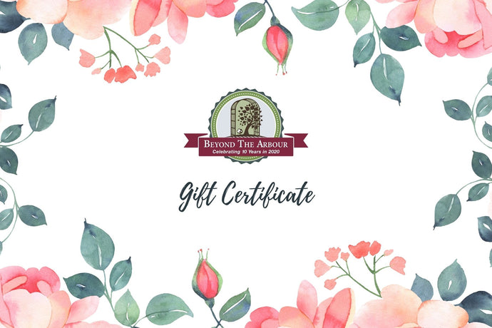 Beyond the Arbour Gift Certificate