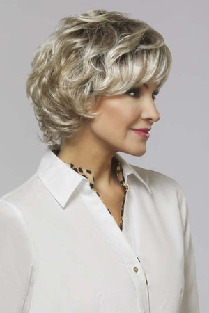 Lindsay by Henry Margu in Highlighted blend of Ash n Platinum Blondes n Chocolate roots (10/613GR)