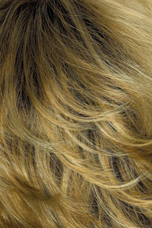 Gold Blonde with Light Blonde highlights and Brown roots (26GR)