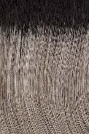 Silver White Highlighted w Light Grey Light Brown Black roots (38/56GR)