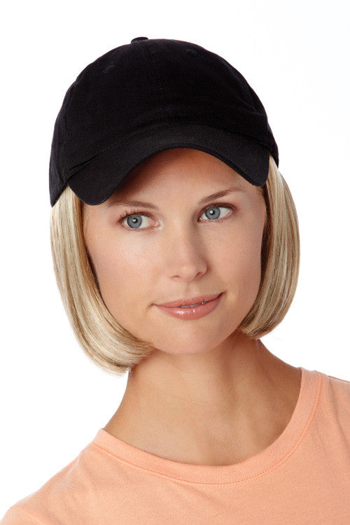 Shorty Hat Black by Henry Margu in Dark Blonde with Light Wheat Blonde highlights (14H)