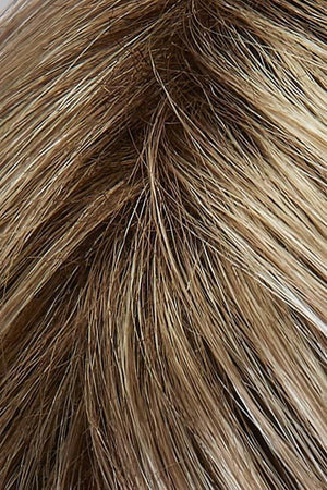 Light Wheat Blonde with Dark Strawberry Blonde highlights and Dark Brown Roots (88GR)