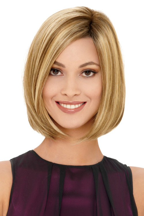 Jamison By Estetica in Light Brown w Chunky Golden Blonde Highlights n Dark Brown Roots (RH12/26RT4)