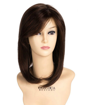 Mono Wiglet 413-MP by Estetica in Dark Brown w Dark Auburn Frost (R32F)