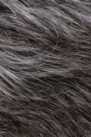 Dark Brown n Off-Black Gray Lightening to Off-White Mix in Front (R344LF58)