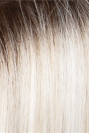 Iced Blonde Dusted w Soft Sand n Golden Brown Roots (SILVERSUNRT8)