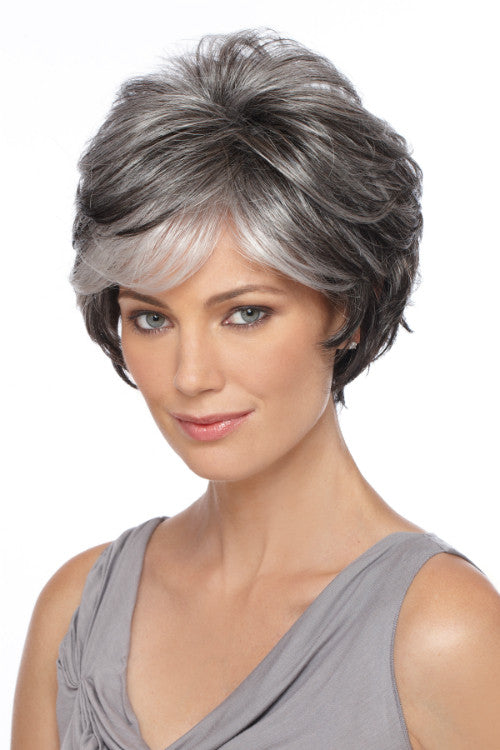 True By Estetica in Dark Brown n Off-Black Gray Lightening to Off-White Mix in Front (R344LF58)