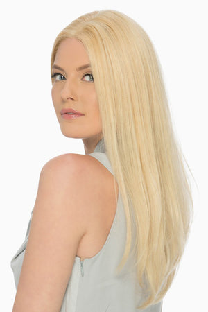 Victoria - Lace Front By Estetica in Pale Golden Blonde / Light Ash Blonde Highlights (R613/24H)