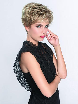 Louise is an elegant short style with beautiful soft curls providing volume in all the right places