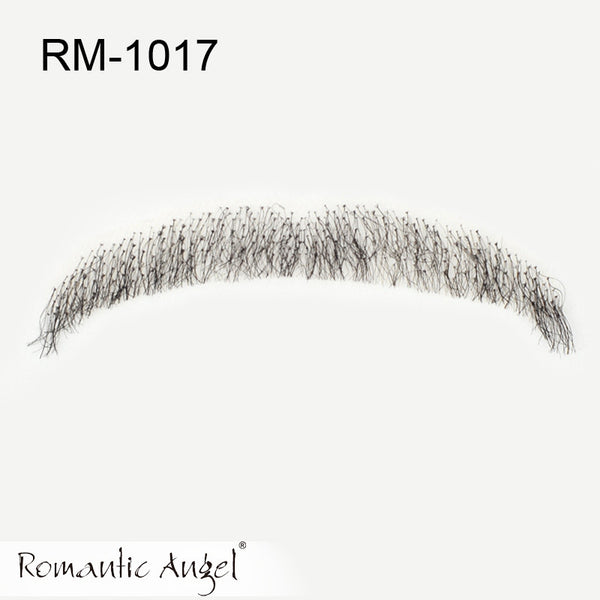 ZOË 100% Human Hair Full Hand Tied Fake Mustache Handlebar Beard for Entertainment/Drama/Party/film/costume Prop False Whiskers - ZOË Products Int'l. - 2