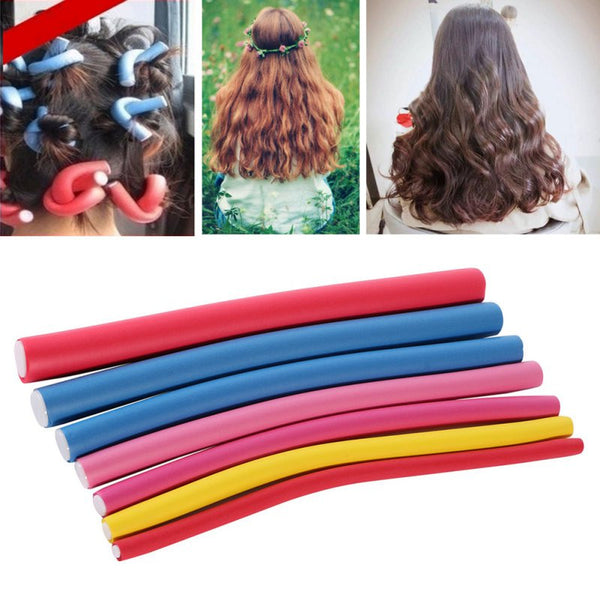 This is a MUST! 10Pcs Curler Makers Soft Foam Bendy Twist Curls Styling Hair Rollers Tool - ZOË Products Int'l. - 5