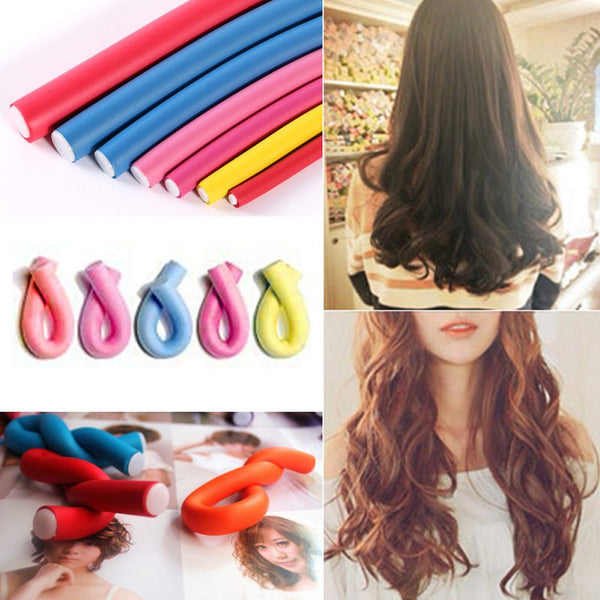 This is a MUST! 10Pcs Curler Makers Soft Foam Bendy Twist Curls Styling Hair Rollers Tool - ZOË Products Int'l. - 4