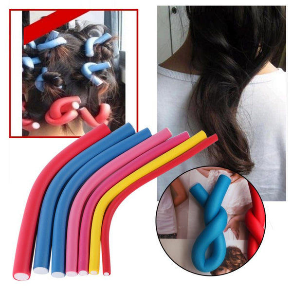 This is a MUST! 10Pcs Curler Makers Soft Foam Bendy Twist Curls Styling Hair Rollers Tool - ZOË Products Int'l. - 3