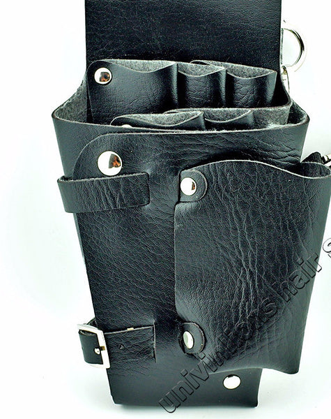 New! Leather Hair Styling Tools Case for Stylists/Barbers /Scissor bag/ holster pouch case with waist shoulder belt - ZOË Products Int'l. - 2