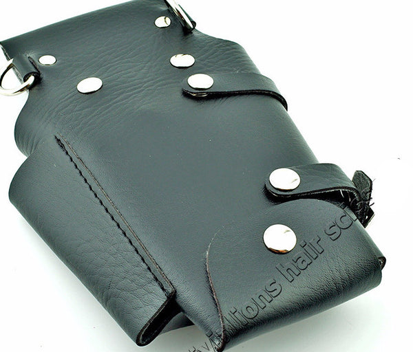 New! Leather Hair Styling Tools Case for Stylists/Barbers /Scissor bag/ holster pouch case with waist shoulder belt - ZOË Products Int'l. - 4