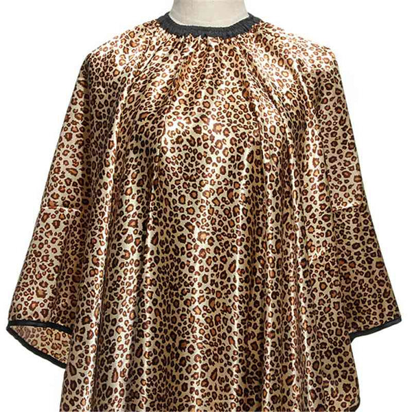 New! Leopard Hair Cape Hairdressing Cut Salon Hairstylist/Barber Styling Cape - ZOË Products Int'l. - 2