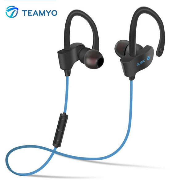 New!! TEAMYO S4 Stereo In-Ear Bluetooth Earphone Wireless Sport Headsets Music Player with Mic For iPhone 5 6 6s SE Samsung MP3 - ZOË Products Int'l. - 1