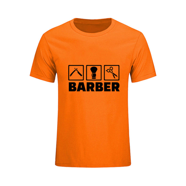 New! Barber T shirt Short sleeve ONeck