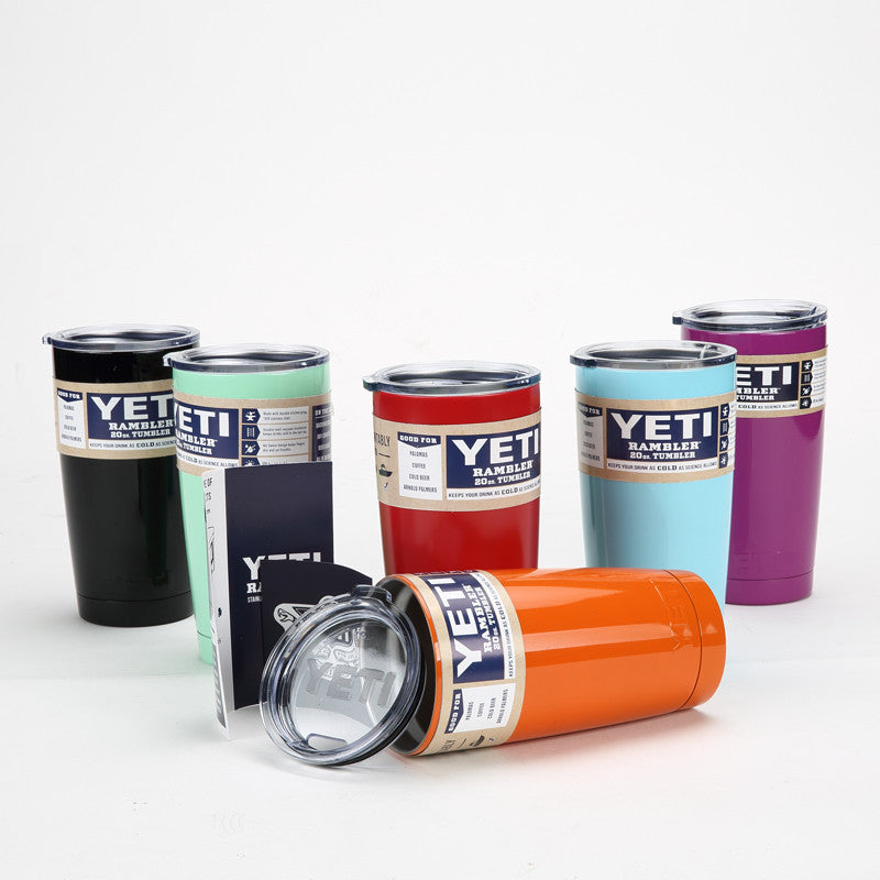 New!! Yeti Cooler Stainless Steel Insulation Cup Tumbler Rambler 20 OZ - ZOË Products Int'l.