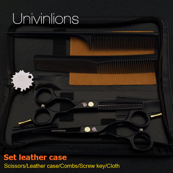 Black Stylish Hair Scissors Teflon Shears