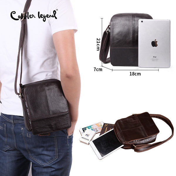 Cobbler Legend Brand 100% Genuine Leather Mens Bag Shoulder Bags Messenger For Men Business Luxury Shoulder Bag 2018