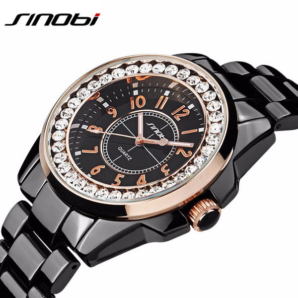 New! Watches Women Ladies Crystal Diamond Qaurtz-watch Luxury Rose Gold Wrist Watches For Women Relojes Mujer - ZOË Products Int'l. - 2