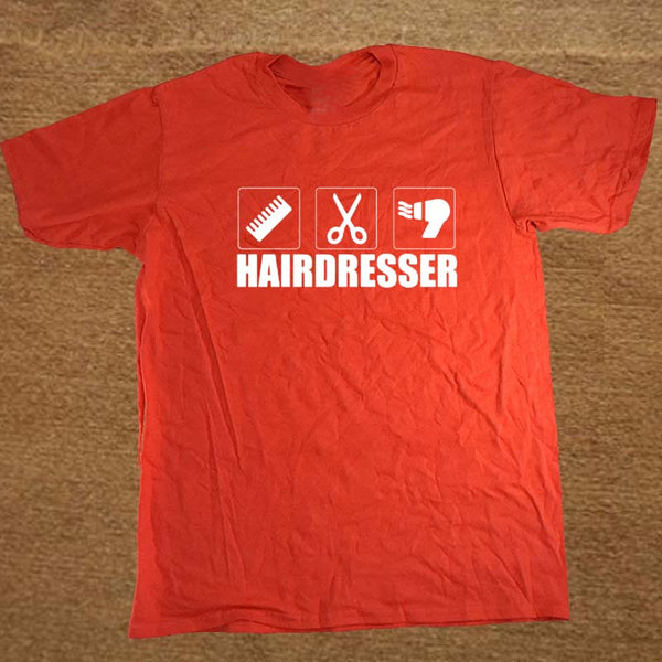 Hairdresser Hair Cut T Shirt Tshirt/Unisex Cotton Short Sleeve