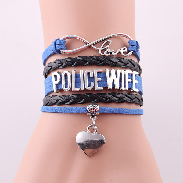 New! Infinity Love Bracelet for Police Wife- All Lives Matter - ZOË Products Int'l. - 3