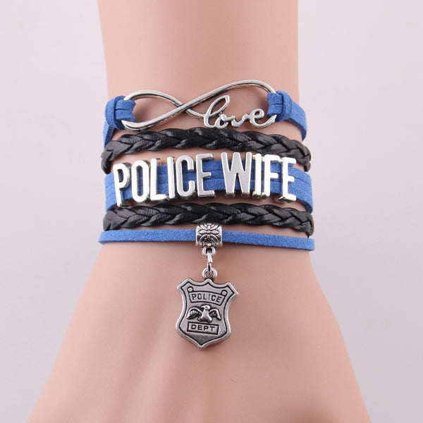 New! Infinity Love Bracelet for Police Wife- All Lives Matter - ZOË Products Int'l. - 1