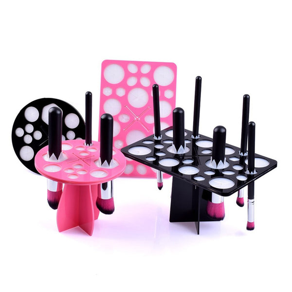 New! ZOË Makeup Brushes Holder Stand Collapsible Air Drying Makeup Brush Organizing Tower Tree Rack Holder Cosmetic Tool - ZOË Products Int'l. - 2