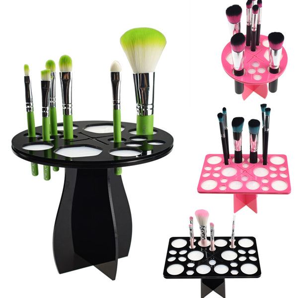 New! ZOË Makeup Brushes Holder Stand Collapsible Air Drying Makeup Brush Organizing Tower Tree Rack Holder Cosmetic Tool - ZOË Products Int'l. - 1