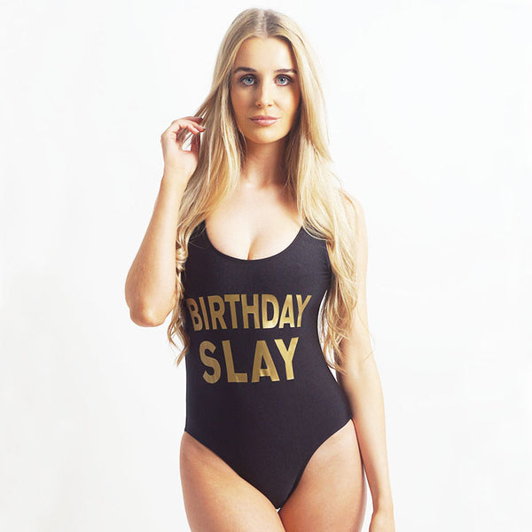 Sexy Birthday Slay One Piece Swimsuit