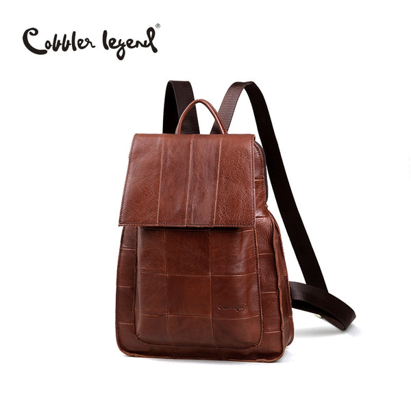Cobbler Legend Brand Designer Women's Cowhide Leather Backpack Women Daily Backpacks School Bag Travel Bag For Girls #510112-1
