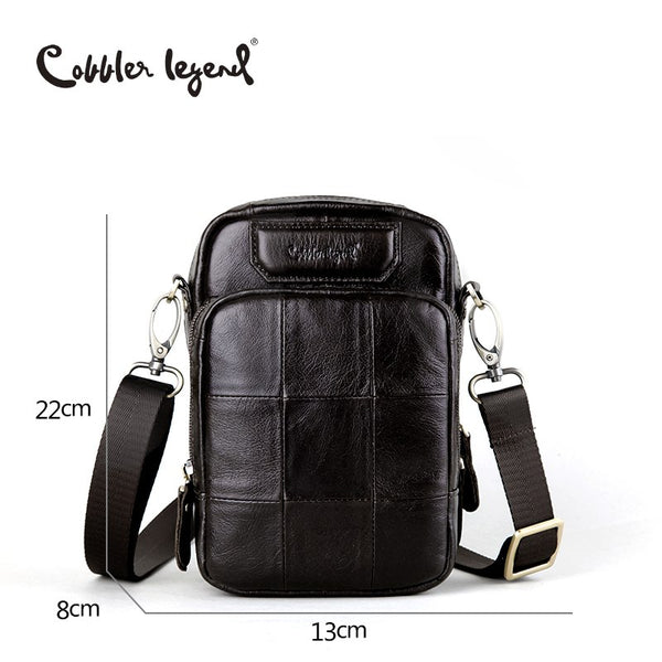 Designer Genuine Leather Bag For Men's Bags Male Small Cross body Bag/ Casual Style Shoulder Bag For Men