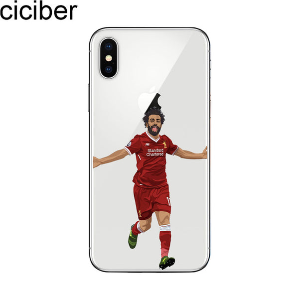 ciciber Sports Soccer Football Pattern Print Design Soft Silicone Phone Cases Cover for Iphone 7 6 6S 8 Plus 5S SE X Capinha
