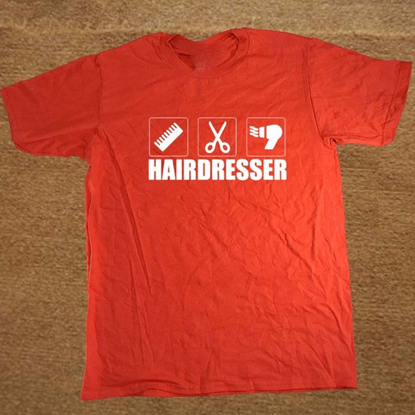 Hairdresser Hair Cut T-shirt/Unisex Cotton Short Sleeve