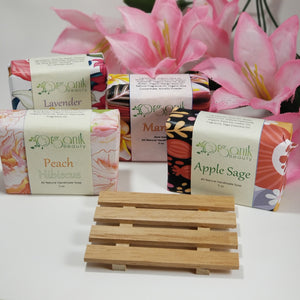 Sale! Free Wooden Soap Deck with a purchase of 4 or more bars of soap!