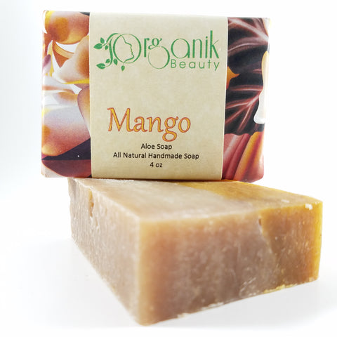 Mango - All Natural Aloe Soap 5 oz - Organik Beauty