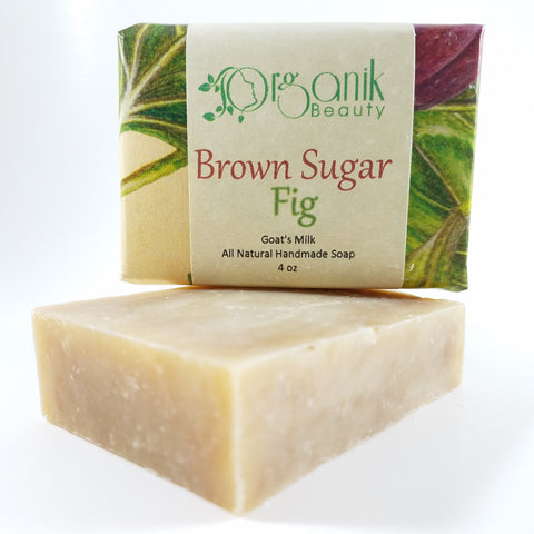 Brown Sugar and  Fig - Organic Goat's Milk Soap 5 oz - Organik Beauty