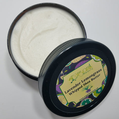 Lavender and Lemongrass Whipped Shea Body Butter - Organik Beauty