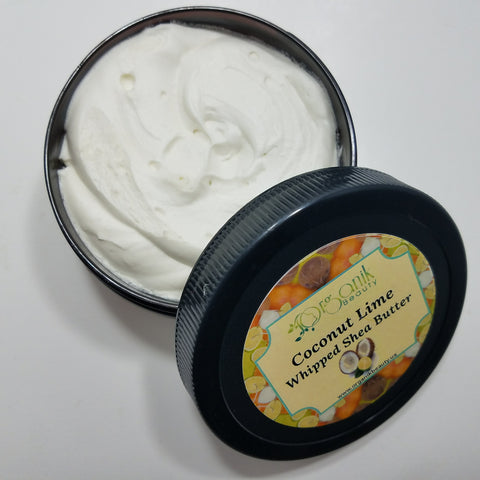 Coconut Lime Verbena Whipped Shea Body Butter - Organik Beauty